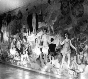 Richter mural of the German Hygiene Museum, Dresden, 1956
