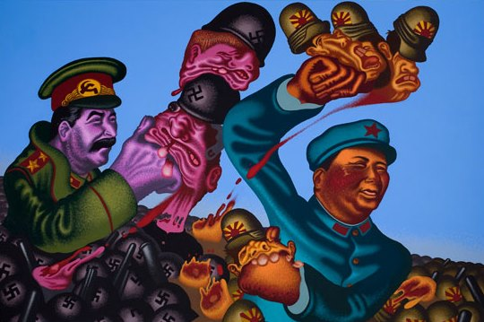 Peter Saul - Stalin Mao
