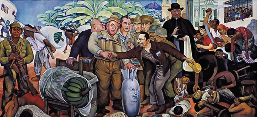Rivera paints the guatemalan coup d tat espionart for Diego rivera s most famous mural